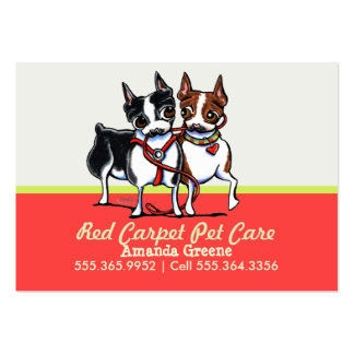 Dog Walker Pet Care Business Boston Mango Pack Of Chubby Business Cards