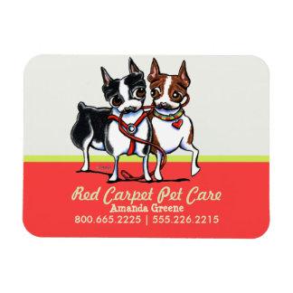 Dog Walker Pet Care Business Boston Mango Vinyl Magnets