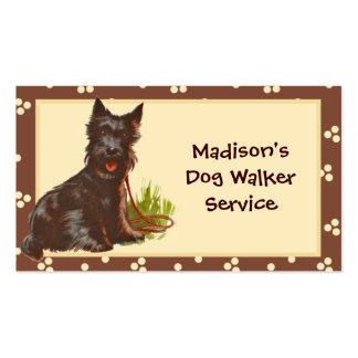 Dog Walker Pet Sitter Business Card