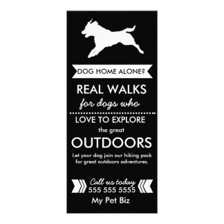 Dog Walker Rack Card - Personalizable