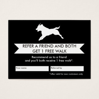 Dog Walker Referral Card - Personalizable