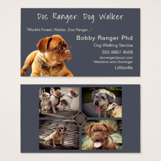 Dog Walker Trainer Friend Photo Template Business Card