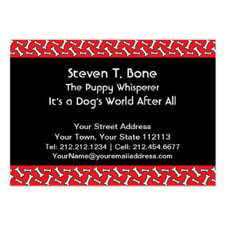 Dog Walker Veterinarian Obedience Trainer Photo Business Card Template