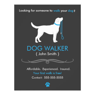 Dog Walker Walking Business Flyer Template