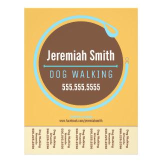 Dog Walker Walking Leash Loop Blue Tear Sheet 21.5 Cm X 28 Cm Flyer