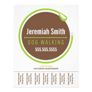 Dog Walker Walking Leash Loop Green Tear Sheet 21.5 Cm X 28 Cm Flyer
