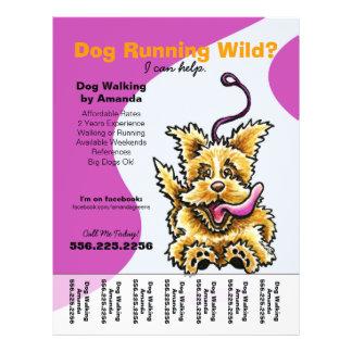 Dog Walker Walking Leashed Terrier Tear Sheet