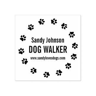 Dog Walker Walking Pet Business Customized Stamp