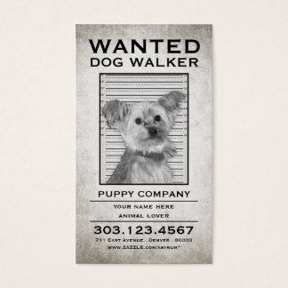 dog walker wanted poster
