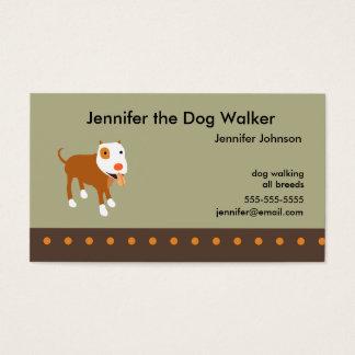 Dog Walker's Business Card