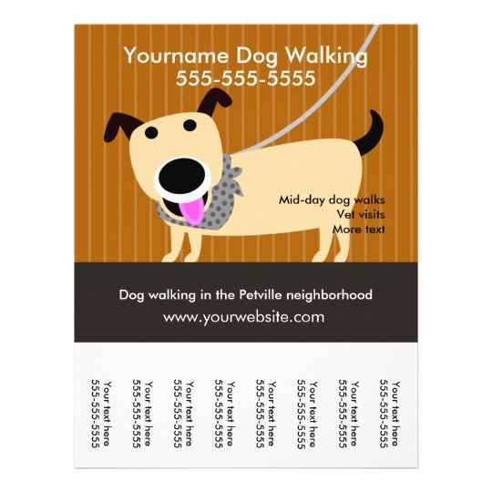 dog walker u0026 39 s flyer with tear