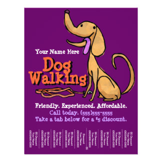 Dog Walking.Advertising Promotional Flyer