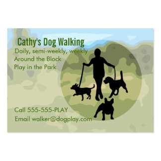 Dog Walking Business Card Templates
