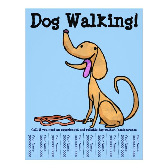 How To Make A Good Dog Walking Poster