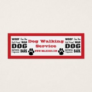 Dog Walking Service Mini Business Card