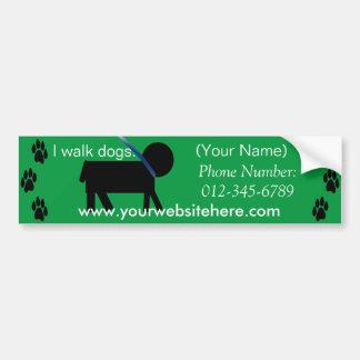 dog walking service sticker bumper sticker