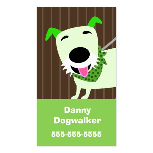 Dog Walking Services Business Cards