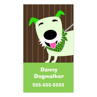 Dog Walking Services Pack Of Standard Business Cards