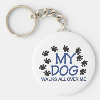 Dog Walks Paws Key Ring