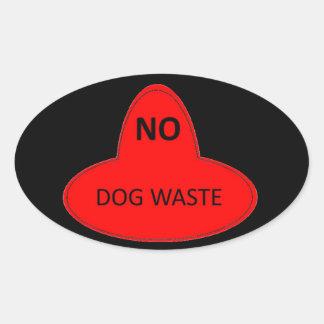 Dog Waste - NO Oval Sticker