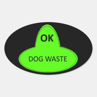 Dog Waste - OK Oval Sticker