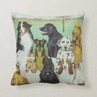 Dog Watch Throw Pillow