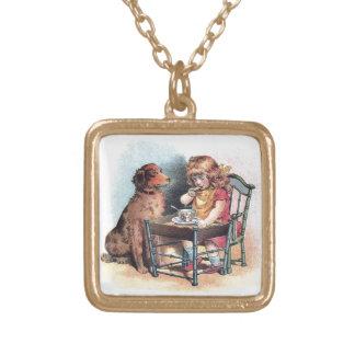 Dog Watching Toddler Eat Necklaces
