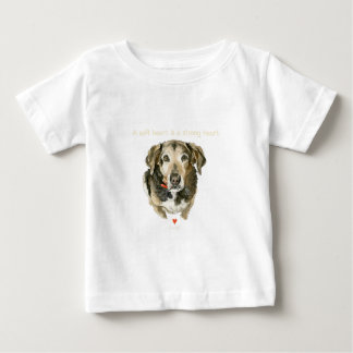 Dog watercolor soft heart is a strong heart baby T-Shirt