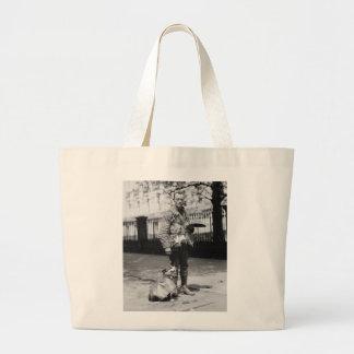 Dog Wearing a Coat, 1920s Jumbo Tote Bag