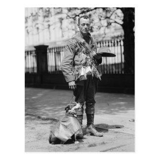 Dog Wearing a Coat, 1920s Postcard