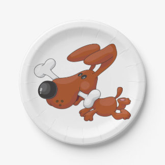 Dog With A Bone Paper Plates 7 Inch Paper Plate