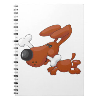 Dog With A Bone Spiral Notebook