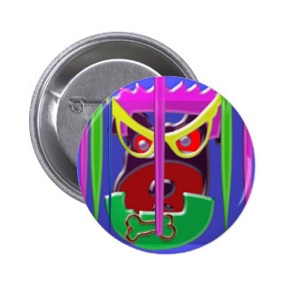 DOG with an attitude 6 Cm Round Badge