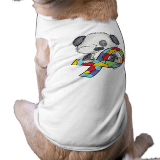 Dog With Autism Awareness Ribbon Shirt