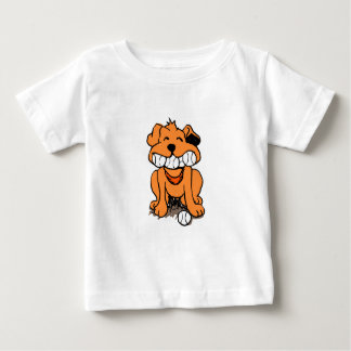 Dog with balls in the mouth baby T-Shirt