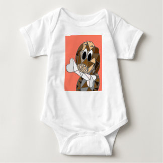 dog with bone baby bodysuit