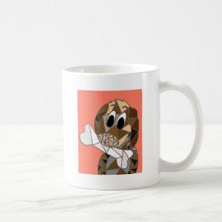 dog with bone coffee mug
