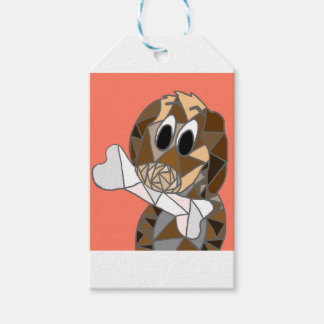 dog with bone gift tags