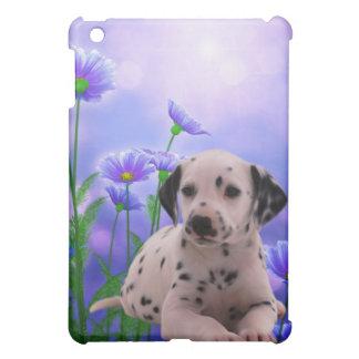 Dog with Flowers iPad Mini Cases