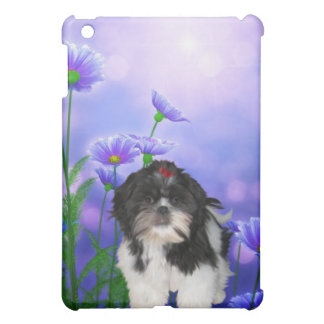Dog with Flowers Case For The iPad Mini