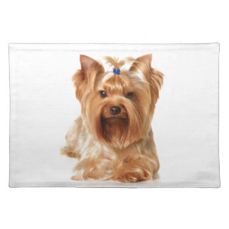 Dog with hairpin placemat
