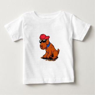 Dog with hat and glasses baby T-Shirt