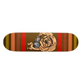 Dog with Machine Gun Skateboard