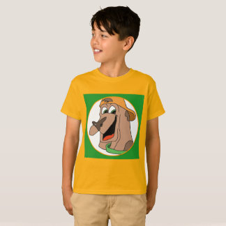 Dog with style orange and green tee