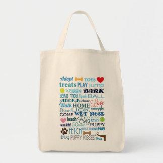 Dog Words Bag