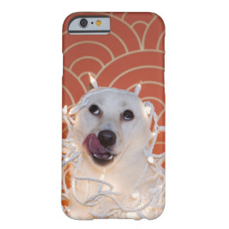 Dog Wrapped in Christmas Lights 2 Barely There iPhone 6 Case