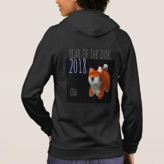 Dog Year 2018 Shiba Puppy 3D Digital Art Woman H Hoodie