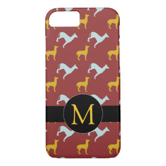 Dog Year 2018 Zodiac Birthday Monogram iPhone Case