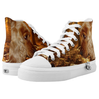 Dog Zipz High Top Sneakers, Prited Shoes Printed Printed Shoes