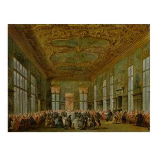 Doge Alvise Mocenigo IV  Giving a Banquet Postcard